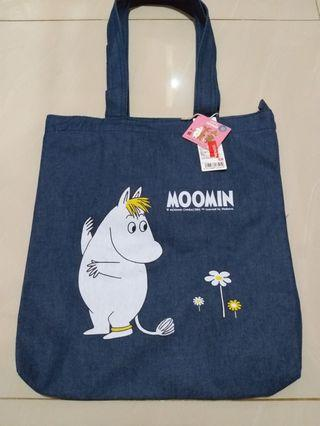 Totebag denim miniso new
