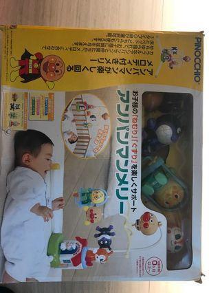 麵包超人 嬰兒床上玩具 2手