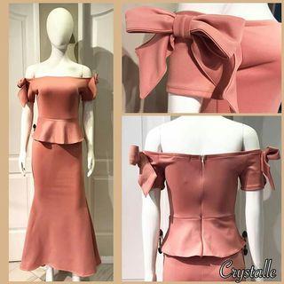 Long Neoprene Dress