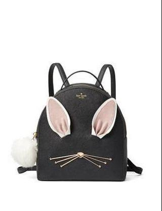 AUTH Kate Spade Hop To It Rabbit Sammi Bunny Backpack - Great Condition - RRP$398 USD