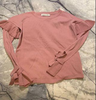 Atmos&Here Pink Long Sleeve Bow Top - Size 8 - Never Worn