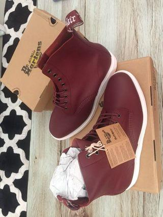 Authentic Dr. Martens - Whiton Cherry Red from UK - New