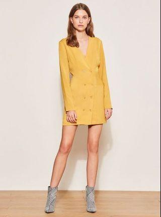The Fifth Label Circuit Mustard Yellow Double Breasted Dress SOLD OUT RRP $109.95 - Size XXS/6 - Like New