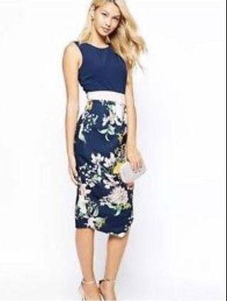 Closet London Floral Tie Back Dress