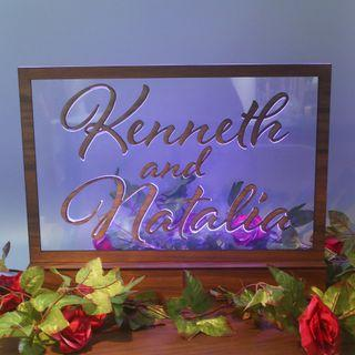 Custom Wedding Display Decor LED