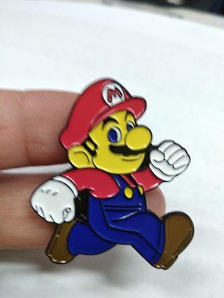 Super Mario brooch 孖宝兄弟禁針