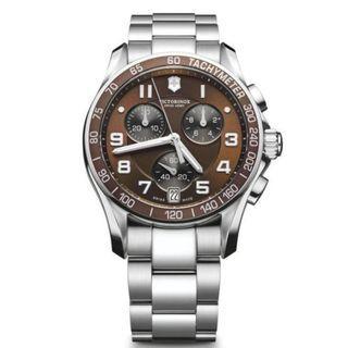 Victorinox Swiss Army Classic Brown Dial SS Chrono Swiss Made Watch 249036