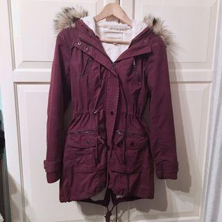 Forever New purple parka size 6