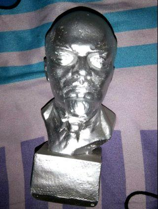 Lenin bust, silver colour, from Russia