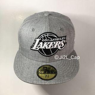 Lakers NBA 湖人 籃球隊 Cap New Era 正版 帽 Hat 麻灰色