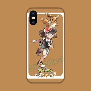 eevee tempered glass phone casing