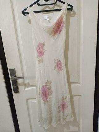 Dress broken white kembang vintage