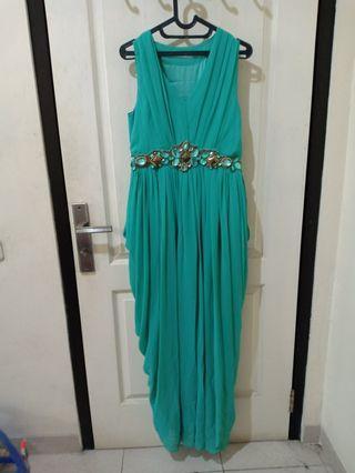 Party Dress panjang hijau