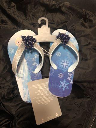 🚚 Frozen princess Elsa swim slippers flip flops