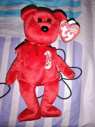 TY Merlion Beanie Baby limited Bear 2009