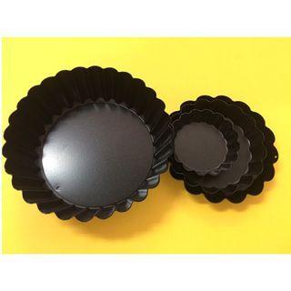 🚚 不沾漆花瓣波浪烤盤 蛋糕烤盤 麵包烤盤 (一組4尺寸)