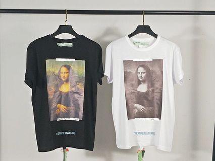 復刻版ow夢露短袖蒙娜麗莎油畫18SS潮牌嘻哈T恤男女同款短袖