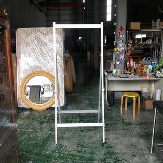 合運二手傢俱~收納式鋁製白板架A02254