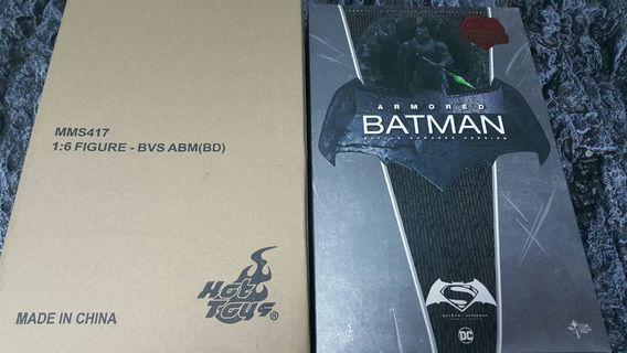 先閱文,後發問 Hottoys exclusive Armored Batman Battle damaged ver