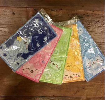 日本純棉貓咪小毛巾5條