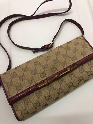 Gucci Bamboo Clutch W Strap