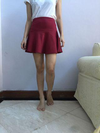 Red L Club Skirt