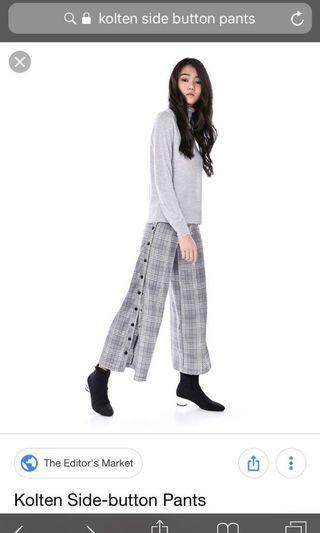 🚚 TEM Kolten Side-Button Checkered Pants