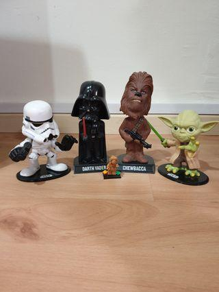 Starwars Bobble Heads for All 4