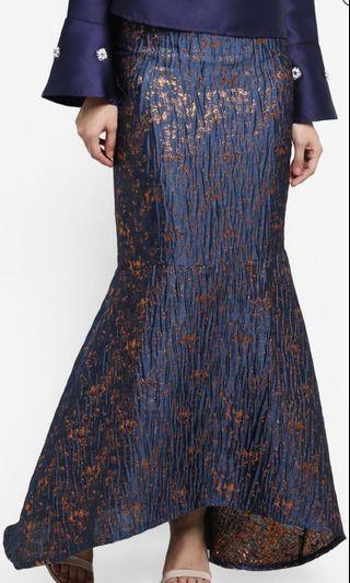 Lubna metallic mermaid skirt