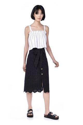 TEM Alora Eyelet Midi Skirt