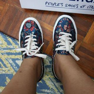 Superga Floral Embroidery Satin Sneakers