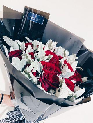 24s rose only bouquet