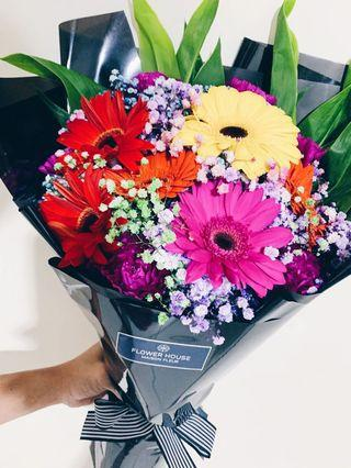 12s gerbera bouquet