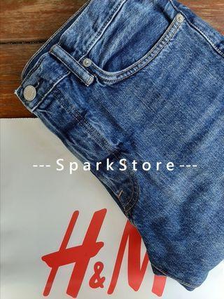 H&M Celana Jeans Biru Slim Straight & Denim