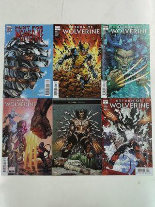 Return of Wolverine (2018 Marvel) Comics Set