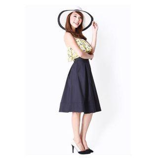 AFA Leighton Midi Skirt, Navy