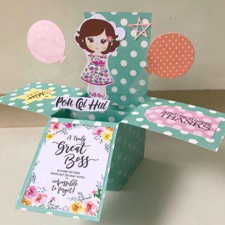 Farewell mini boss Pop Up Card