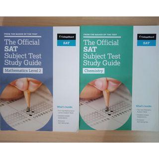 SAT Chemistry and Mathematics II Books