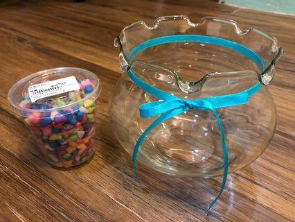 🚚 魚缸+油彩石