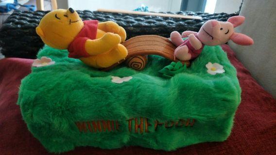 Pooh tissue box coer