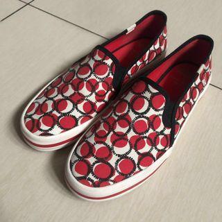 Keds Kate Spade double decker polka red/white