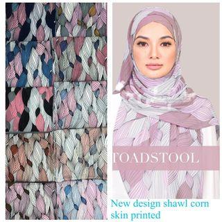 Shawl corn skin printed