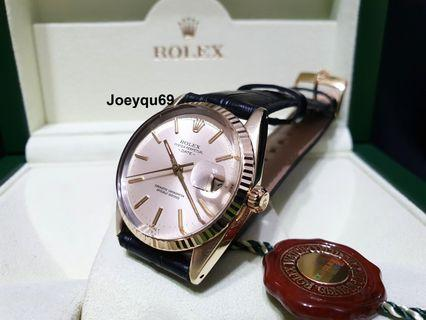 Rolex Mechanical auto Vintage Gold with beautiful orig Silver dial