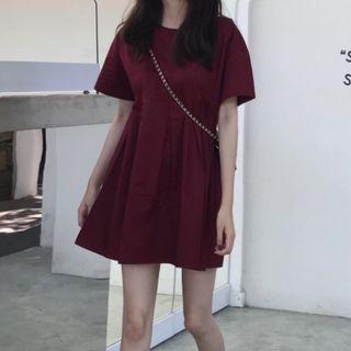 🚚 Burgundy baby doll dress