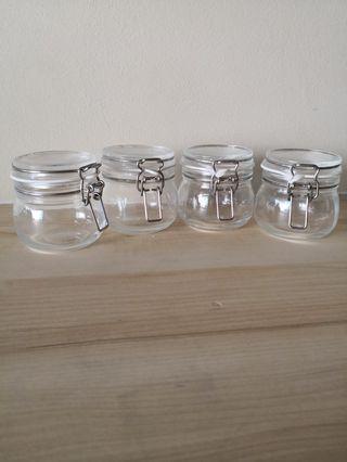 🚚 Giving away! IKEA Korken mini jars with lid