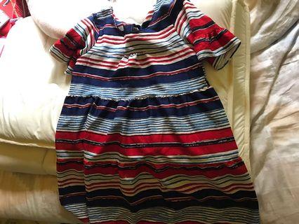 🚚 橫條紋孕婦洋裝