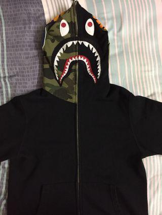 (Price Reduced) Black Bape Hoodie With Camo Hood