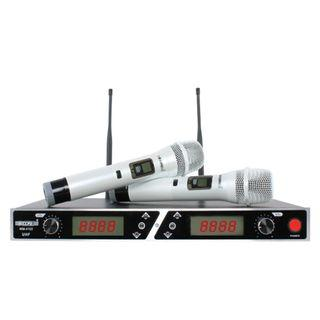 Professional UHF Wireless Multi Channel Dual Handheld Microphone/Cordless Microphone