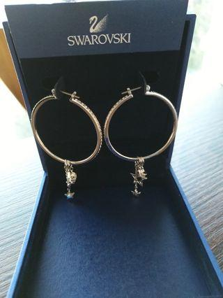 Swarovski Hoop Star Earrings