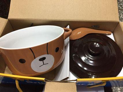 英國熊5.5吋造型蓋碗附匙
